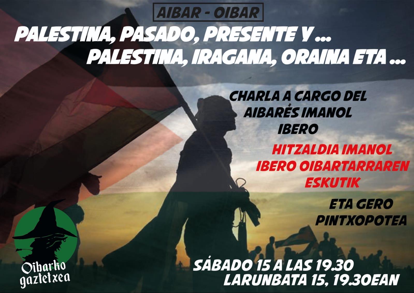"Charla: ""Palestina. Pasado, presente y ..."" de la mano de Imanol Ibero Azkarate / Hitzaldia: ""Palestina. Iragana, oraina eta..."" Imanol Iberoren eskutik"