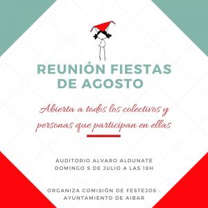 Reunión fiestas de agosto @ Auditorio Álvaro Aldunate