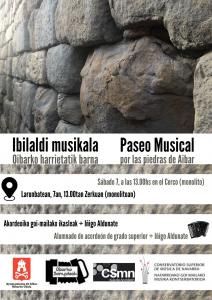 """KONTZERTUA - CONCIERTO """" Paseo musical por las piedras de Aibar - Ibilaldi Musikala Oibarko harrietatik barna"""" @ Monolito   Aibar   Navarra   España"""